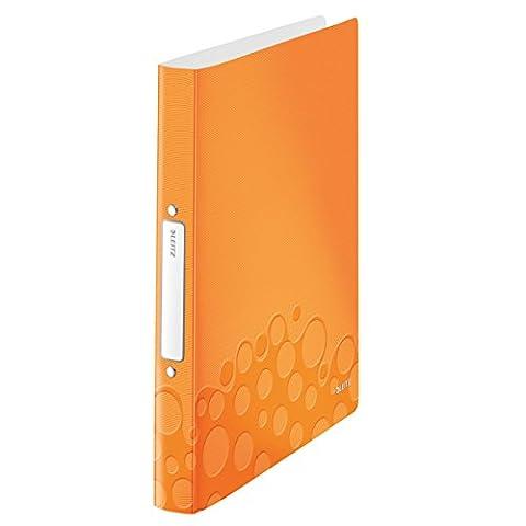Leitz 42570044 Ringbuch wow, A4, PP, 2 Ringe, 25 mm, orange metallic