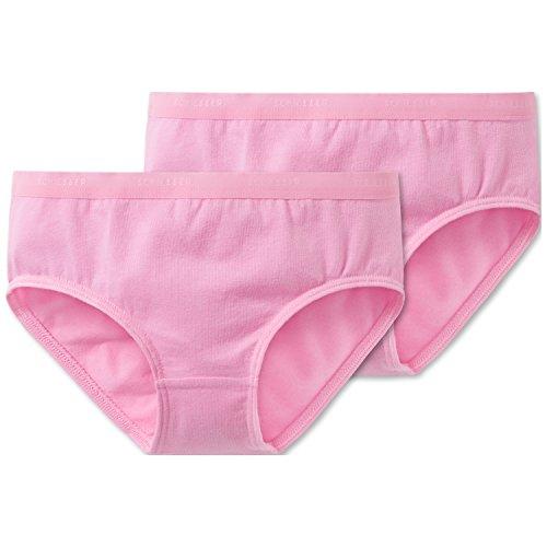Schiesser Mädchen 95/5 Multi-Pack 2Pack Slips Unterhose, Rot (Rosa 503), (Herstellergröße: 104) (2er -