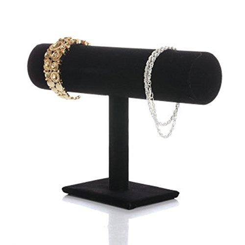 Artstore - espositore per gioielli con barra a t, organizer per orologi, bracciali, collane, colore: black velvet, cod. arjryt-lhh2619