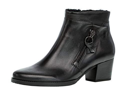 Gabor Damen Stiefelette/Röhrli 32.831, Frauen Ankle Boots,Stiefel,Halbstiefel,Bootie,knöchelhoch,Reißverschluss,schwarz(Nickif.),43 EU / 9 UK -