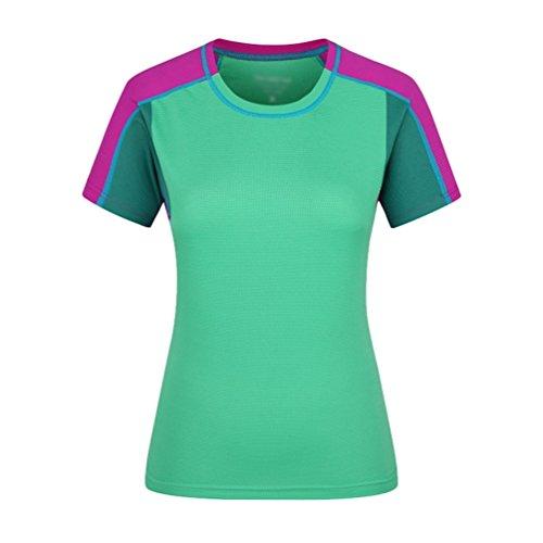 NiSeng Maillot Compression À Manches Courtes Pour Homme & Femme Sports Séchage Rapide T-Shirts Fitness Vêtements DExercice Vert Pour Femmes
