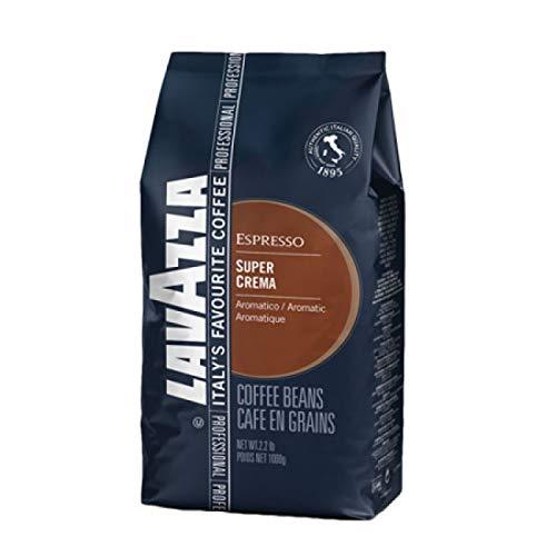 Lavazza Kaffee Espresso Super Crema, ganze Bohnen, Bohnenkaffee (6 x 1kg Packung)