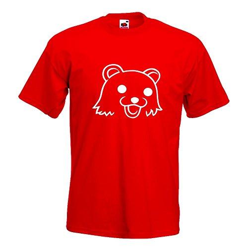 KIWISTAR - Pedobär / Pedobear T-Shirt in 15 verschiedenen Farben - Herren Funshirt bedruckt Design Sprüche Spruch Motive Oberteil Baumwolle Print Größe S M L XL XXL Rot