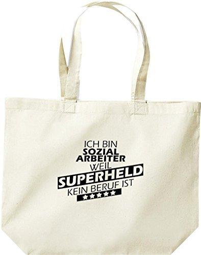 große Einkaufstasche, Ich bin Sozialarbeiter, weil Superheld kein Beruf ist, Natur