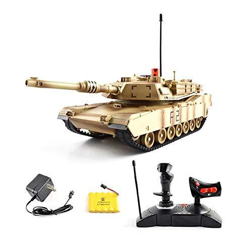 Ycco Radio Recargable Control Remoto Combatiendo Rastreadores Infrarrojos Carros de Armas Militares Tanques de Batalla Simulación Infrarrojos Tanques Modelos RC Vehículos Automáticos Coche para Niños
