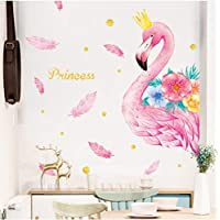 Wallpaper Murals Pink Flamingo Unicorn Wall Stickers for Kids Rooms Living Room Bedroom Decor Cartoon Animal Wall Sticker Wall Decals Room Decor60*90Cm