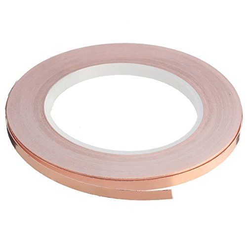 Demarkt EMI Tape Folie Klebeband Klebeband Selbstklebend Abschirmband Kupferfolie Kupferband Schneckenschutz für Gitarren und EMV/EMI Abschirmung (5mm*20m)