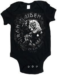 Iron Maiden Unisex Baby IMBG08CB NOTB Grey Tone Short Sleeve Bodysuit