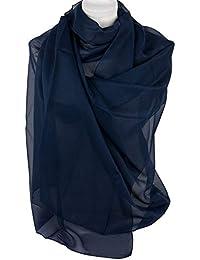 25b693049e Emila Stola e pochette blu cerimonia da donna coprispalle elegante estivo  foulard scialle grande da matrimonio