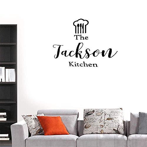 wandaufkleber 3d Wandtattoo Kinderzimmer Chef Hut Küche personalisierte Name Familie Liebe Design Mode moderne Home Decor Interior