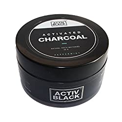 Activ Black Activated Charcoal for Natural Teeth Whitening (Peppermint Flavor)