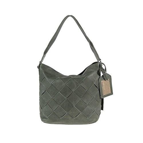 Cowboysbag Amsterdam Tasche Amble Leder Handtasche Schultertasche Grau Hobo Bag (Hobo Print Leopard)