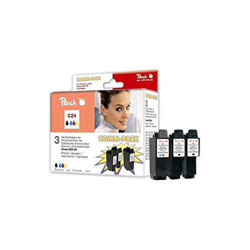 Canon Bci-24 Black Tinte (Peach Spar Pack Tintenpatronen kompatibel zu Canon BCI-24-series)