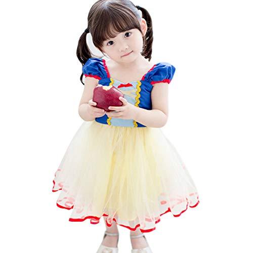 OwlFay Mädchen Schneewittchen Prinzessin Kleid Party Geburtstagkleid Cosplay Festlich Fasching Karneval Weihnachten Halloween Fotografie Kostüme Baby Kider 24 (Ariel Baby Kostüme)