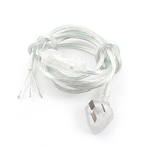 DealMux AU Stecker AC 125V 2A Ein-Aus SPST Netzkabel Inline-Schalter 1.8M, 6' , löschen (6' Netzkabel)