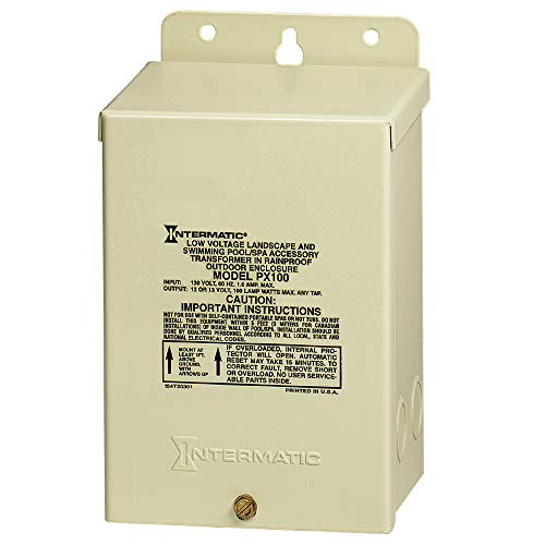 Intermatic PX100 Pool Licht 100 W Sicherheit Transformer, beige - Intermatic Spa-timer
