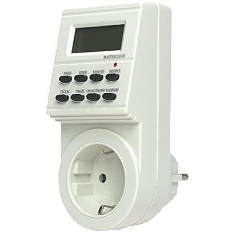 AS-Schwabe 24032 - Enchufe con temporizador para interiores (semanal, digital, IP20)