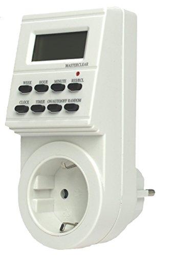 as - Schwabe  Zeitschaltuhr mit Steckdose, digital, mit Wochenprogramm und Zufallsfunktion 24032 -