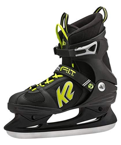 K2 Herren Eishockeyschuh-Complete F.I.T. Speeed Ice 11, 5 Schlittschuhe, schwarz/Grün, 11.5