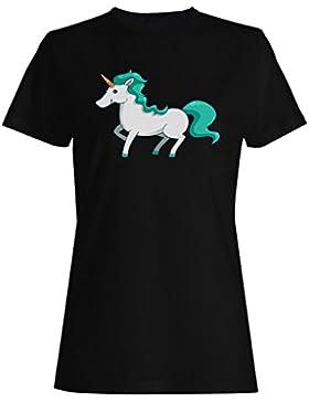 Nuevo Sueño Lindo Unicornio camiseta de las mujeres m208f