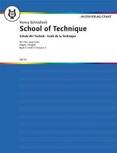 Partitions classique MUSIKVERLAG CRANZ SCHRADIECK HEINRICH - SCHOOL OF TECHNIQUE BAND 3 - VIOLA Alto
