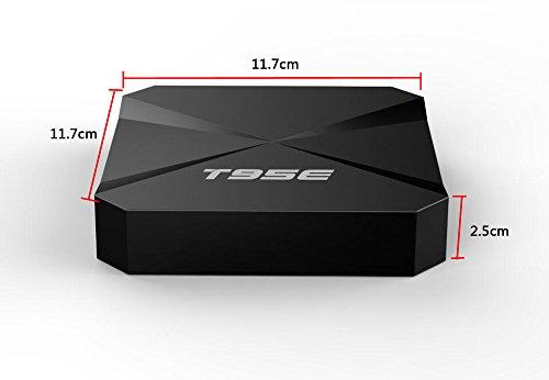 DONG Set top box STB digital TV network TV BOX T95E quad-core RK3229  Android 6 0 BT4 0 2G+8G Wifi smart HD home plastic (11 7*11 7*2 5cm)