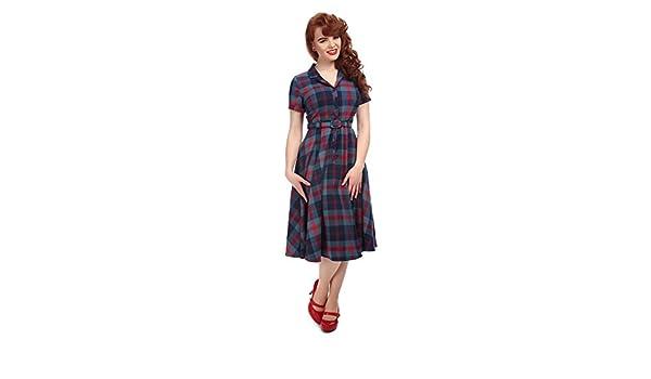 bffb1db575f7 Collectif Vintage Women's Blue Caterina Merida Swing Dress UK 14:  Amazon.co.uk: Clothing