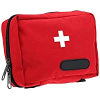 Yuan Ou Kit Primeros Auxilios Outdoor Tactical Medical First Kit Empty Multi-Layer First Aid Kit Pouch 7X12X6cm Rojo