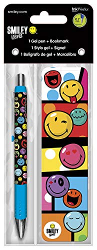 Inkworks Trends International Smiley World Gel Pen + segnalibro Confezione