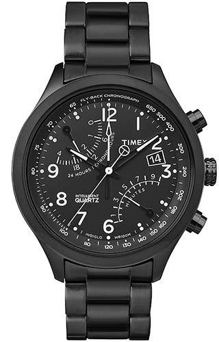 Timex Herren Analog Quarz Uhr mit Edelstahl Armband TW2P60800 (Männer Timex Chronograph Watch)