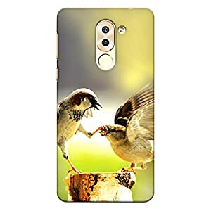 CrazyInk Premium 3D Back Cover for Honor 6x - Bird Fight