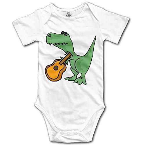 T Kostüm Boy Rex - T-Rex Playing The Guitar Boy's & Girl's Short Sleeve Jumpsuit Outfits White