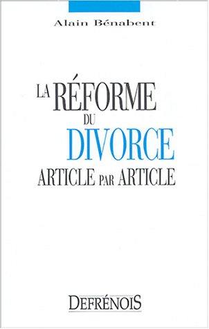 La réforme du divorce article par article