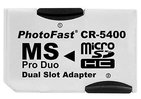 Adaptateur memory stick Pro Double pour cartes mémoires micro SD