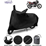 Fabtec Waterproof Bike/Motorcycle Body Cover for Hero Xtream Sports with Storage Bag (Black)