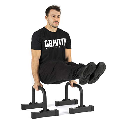 Gravity Fitness Medium Pro Parallettes 2.0 - Nuovi manici da 38 mm - Calisthenics, Crossfit, uso...