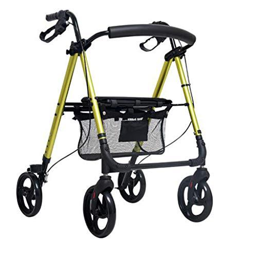 Gtt Walker Rollator/Walker Rollator für ältere Einkäufe/Walker Rollator mit Sitz und Korb leichte ältere Einkaufskorb Faltbare einstellbare Gehhilfe Multifunktions ältere Roller Warenkorb