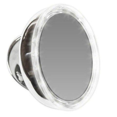 Miroir Murale Lumineux grossissant 10x - Aimanté avec 3 Ventouses
