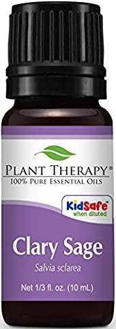 Clary Sage Essential Oil. 10 ml. 100% Pure, Undiluted, Therapeutic Grade. by Plant Therapy Essential Oils