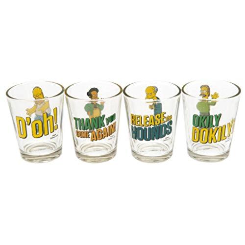 The Simpsons 4PK bicchierini set di 4bicchieri di circa 6cm di altezza in un espositore ufficiale