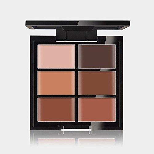 Professional 6 Couleurs Contour Crème Visage Maquillage Cosmétiques Surlignage Palette #3