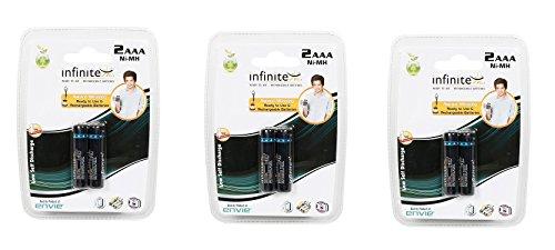 Envie 1100mah AAA Infinite Plus Rechargable Battery  Pack of 6