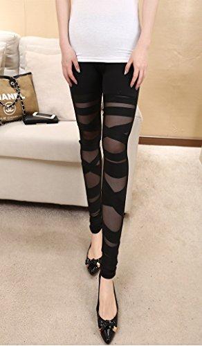 Damen Hosen IHRKleid® PivotTable Bundle Elastische Enge Hosen Schwarz