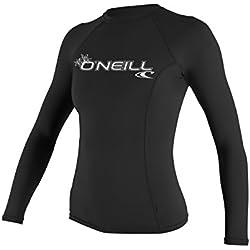 O'Neill Wetsuits WMS Basic Skins L/s Crew Veste Manches Longues Femme, Noir, FR : S (Taille Fabricant : S)