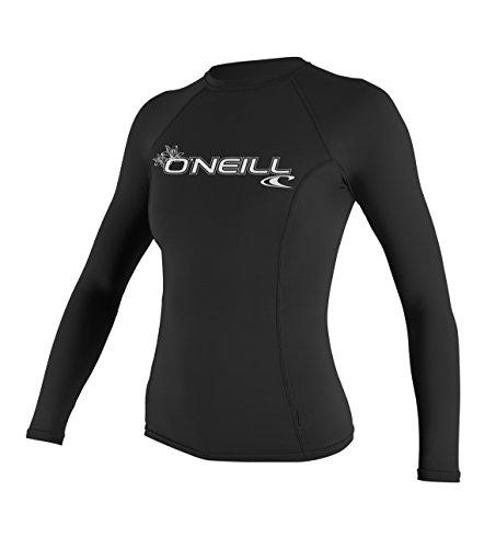 O'Neill Wetsuits Damen Uv Schutz wms basic skins L/S crew, Black, L, 3549-002 (Basic-langarm-lycra-shirt)