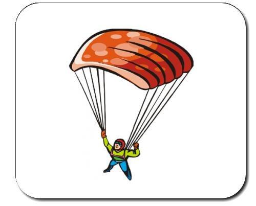 Preisvergleich Produktbild Mauspad mit der Grafik: Lifestyle, öffnen, Ausrüstung, Himmel, Fallschirmspringer, gesund, Fallschirm, Tauchgang, parachuter, im Freien, Luft, Rettung