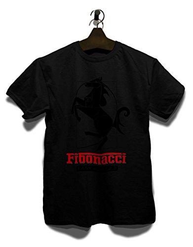 Fibonacci Ferrari T-Shirt Schwarz