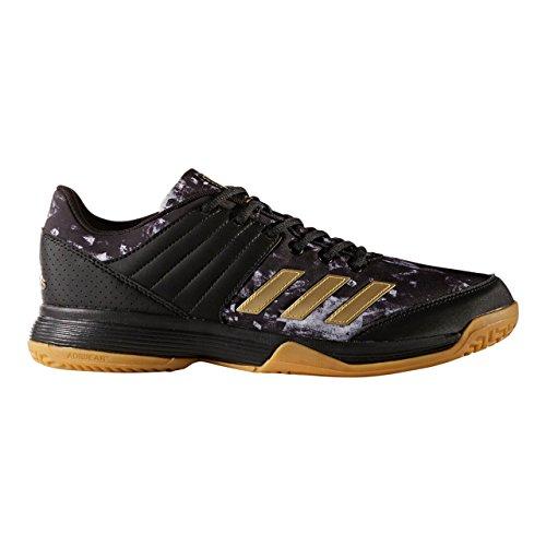 adidas Herren Ligra 5 Handballschuhe Schwarz (Core Black/gold Met/ftwr White)