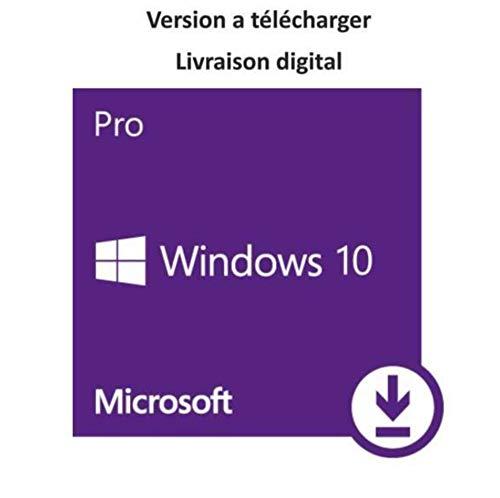 Windows 10 Pro 32/64 Bits Licence - Français - Clé d'activation originale et livraison gratuite par e-mail - Assistance et instructions (Satisfait ou remboursé)