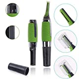 Alcoa Prime(MT) Micro Touch Max Personal Ear Nose Neck Eyebrow Hair Trimmer Remover - Green